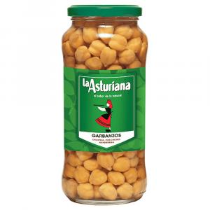 Spanish cooked chickpeas: Garbanzos 570g