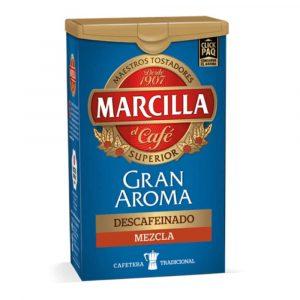 Café descafeinado Marcilla mezcla – Ground Decaf Mixed Coffee Marcilla 200g